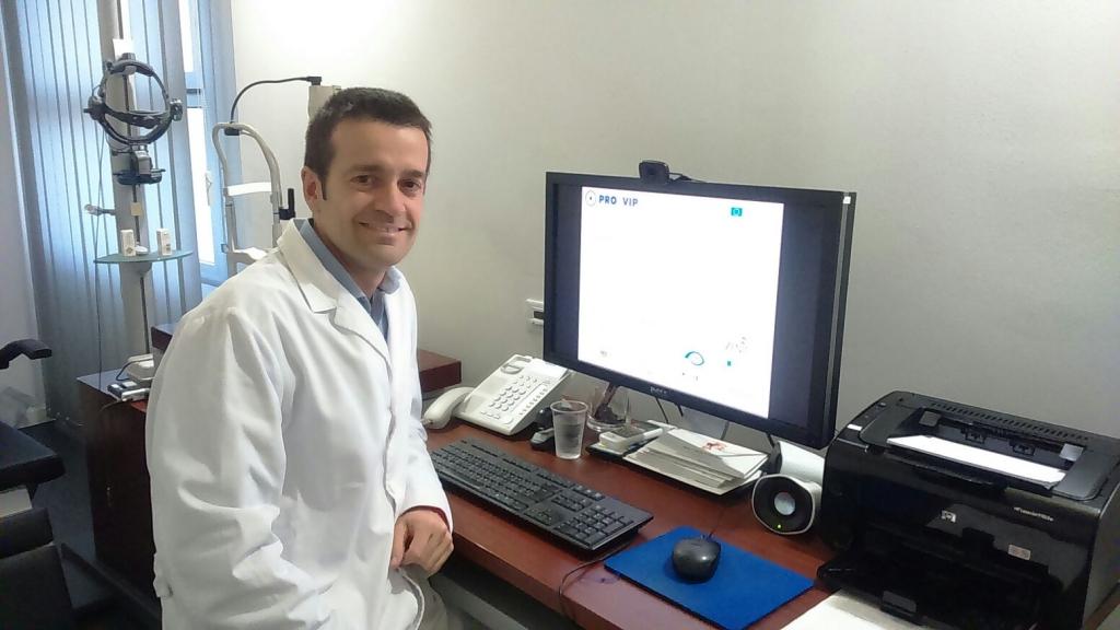 El Dr. Marc Biarnés, investigador de l'Institut de la Màcula, va intervenir al Final Meeting de manera telemàtica des de la seu de la BMF.