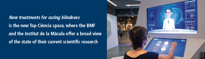 New treatments for curing blindness is the new Top Ciència space, where the BMF and the Institut de la Màcula offer a broad view of the state of their current scientific research.
